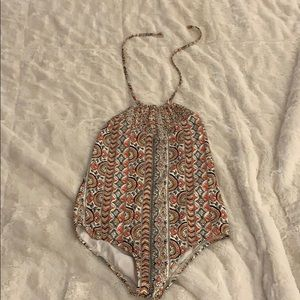 Billabong smocked one piece